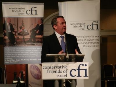 Rt. Hon. Liam Fox MP addresses CFI Party Conference Reception