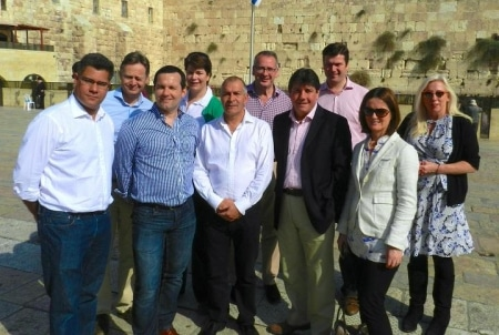 CFI Delegation at the Western Wall, Jerusalem