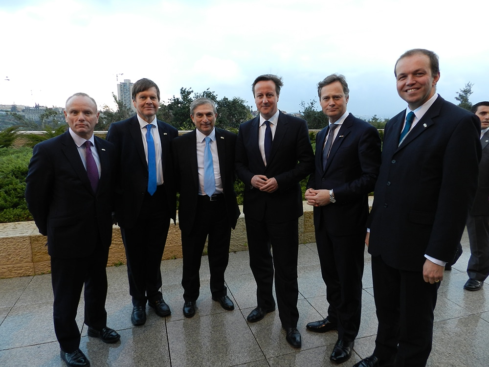 CFI Delegation with Prime Minister David Cameron in Jerusalem