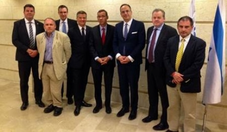 CFI Delegation with Mark Regev, spokesman for Prime Minister Benjamin Netanyahu