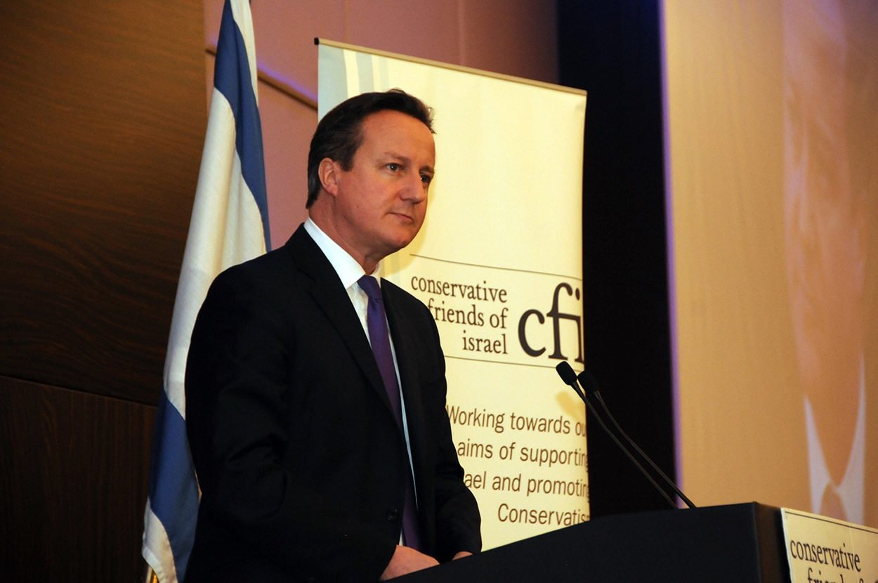 Prime Minister David Cameron address CFI Annual Business Lunch