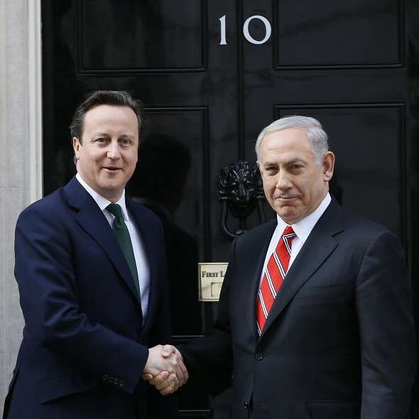 Photo of Benjamin Netanyahu & his friend  David Cameron