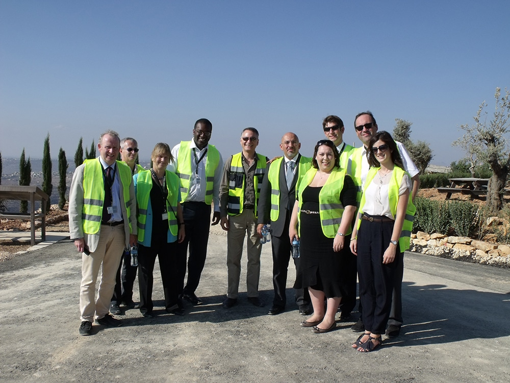 CFI Delegation in Rawabi, West Bank