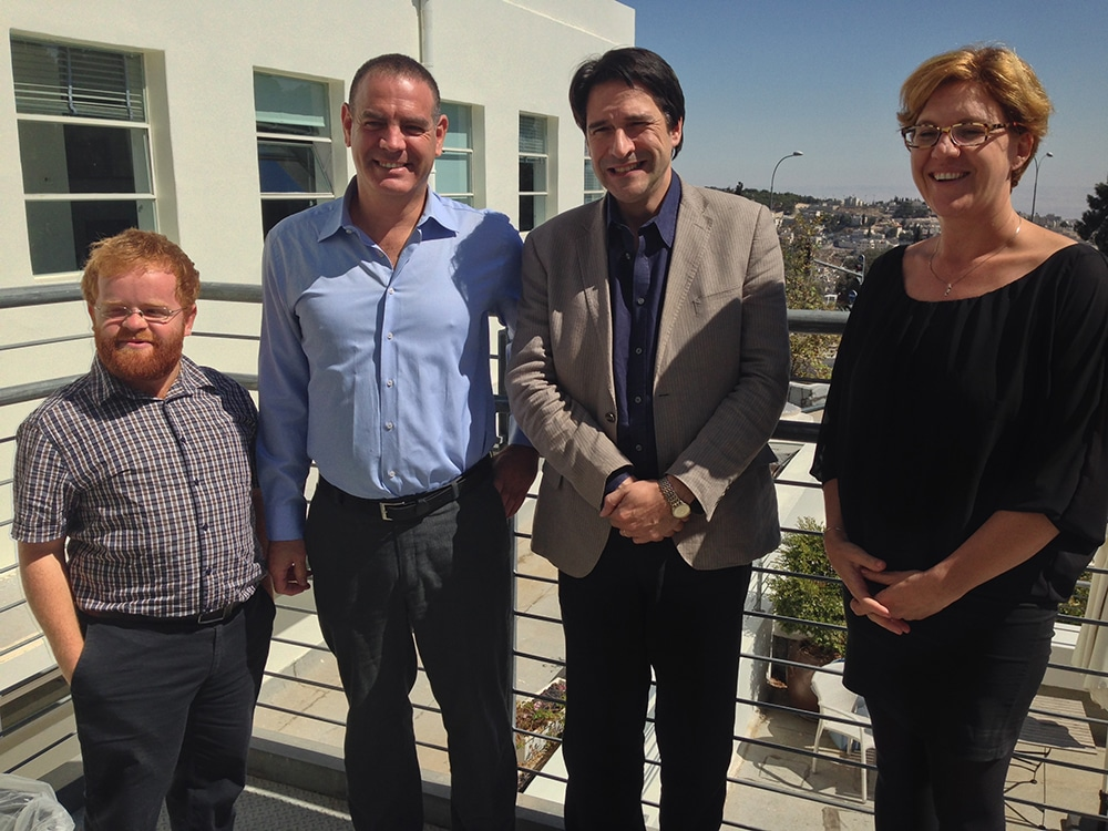 James Morris MP with Dr. Nimrod Kozlovski, Jerusalem Venture Partners