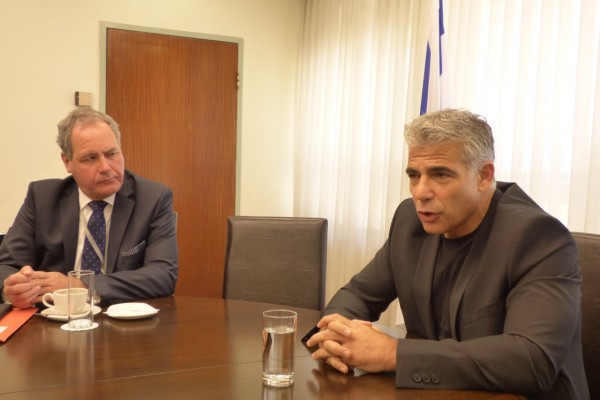 Bob Blackman MP with Yair Lapid, leader of Yesh Atid