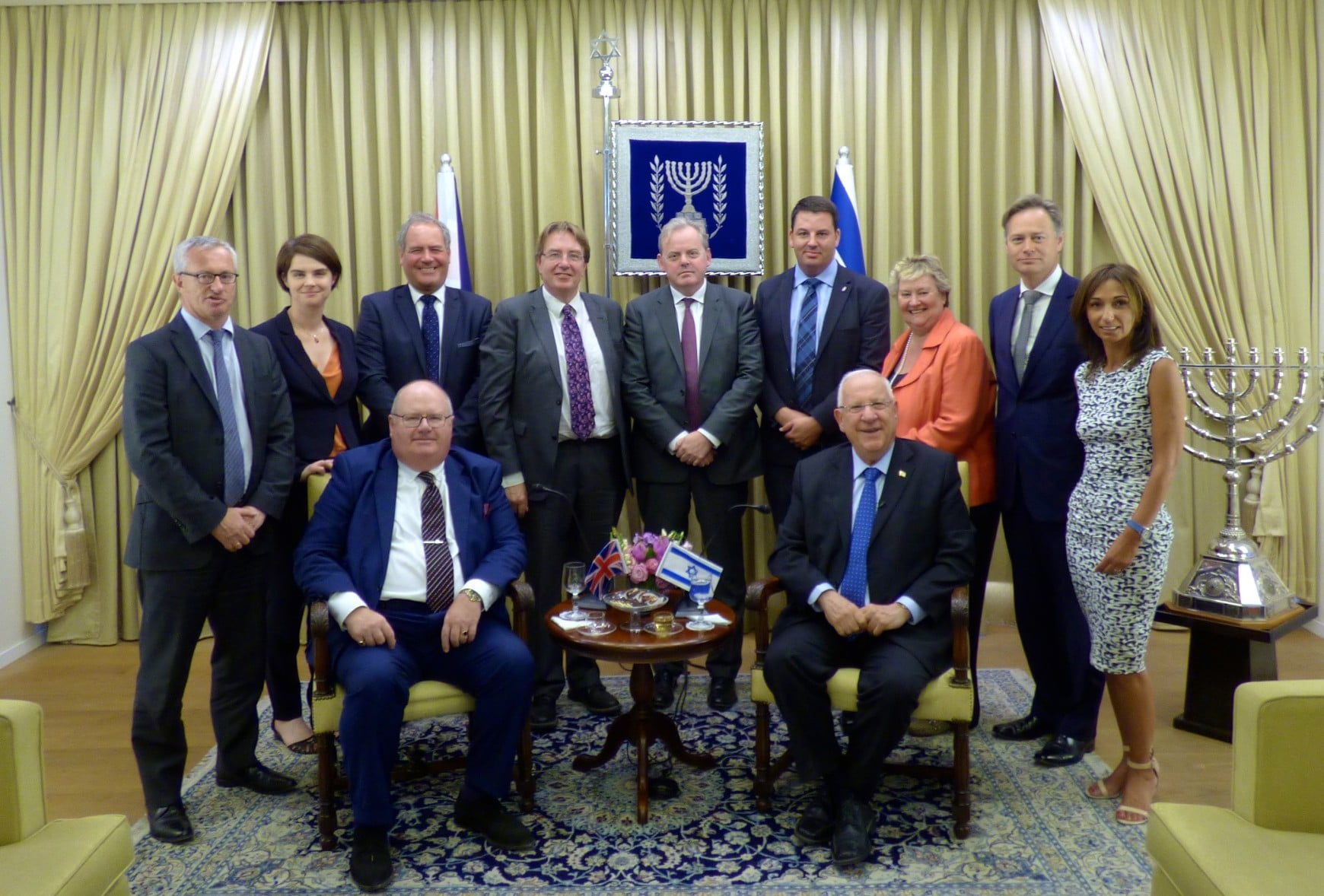 CFI Officers with President Rivlin