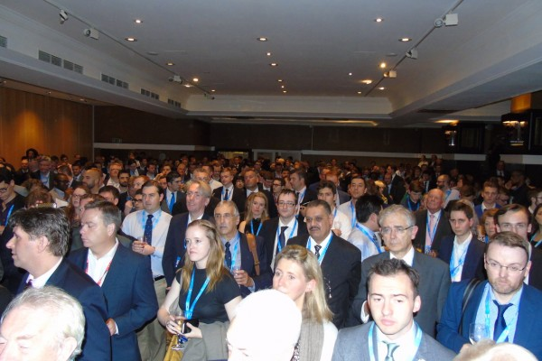 Conference reception crowd 2015