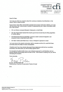 letter Sir Eric - Leicester Mayor