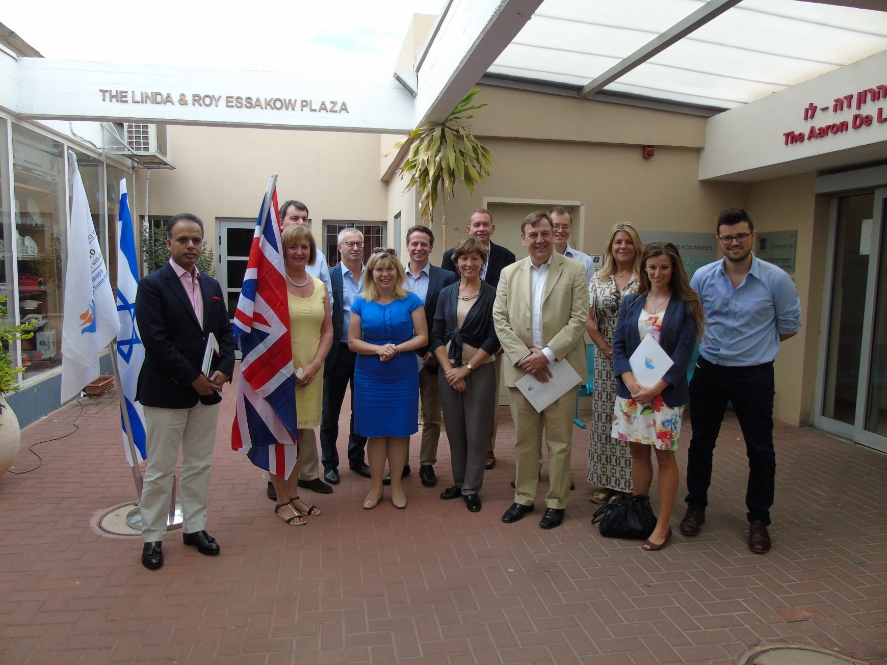 September 2016: CFI leads delegation of seven MPs to Israel
