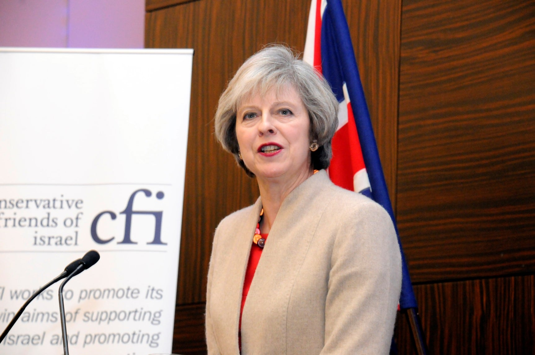 "Prime Minister Theresa May vows to mark Balfour Declaration centenary with ""pride"" at CFI's biggest ever Annual Business Lunch"