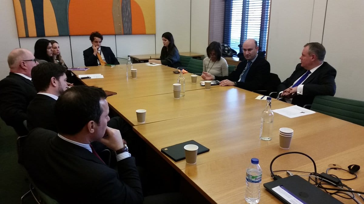 Conservative MPs attend CFI briefing with Dr Azriel Bermant