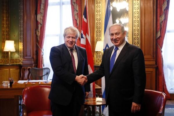 Boris Johnson Netanyahu