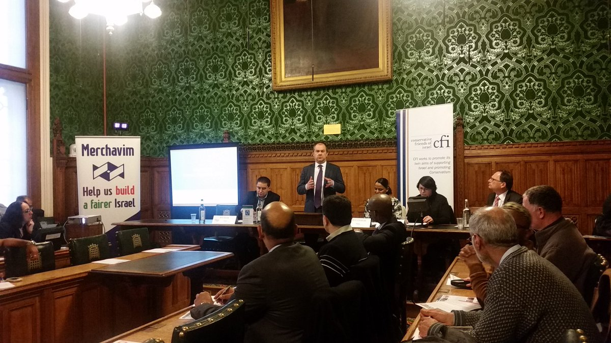 Conservative MPs attend CFI-CMF briefing event with Israeli NGO Merchavim