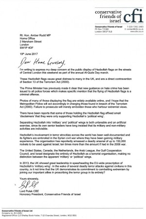 press release hezbollah letter