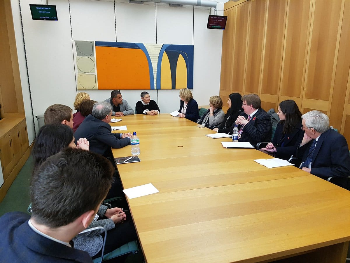 Conservative MPs attend cross-party briefing with the Parents Circle in Parliament