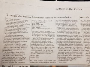 Telegraph letter