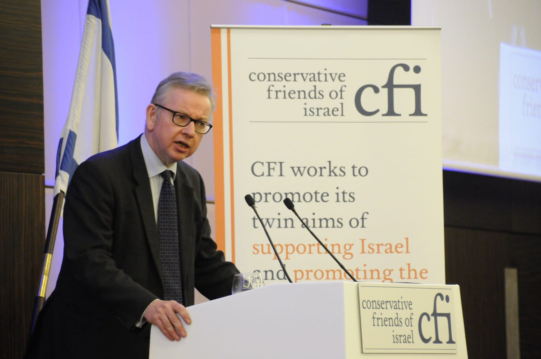 "Michael Gove celebrates Israel's ""light to the world"" at CFI's Annual Business Lunch attended by 170 Conservative parliamentarians"
