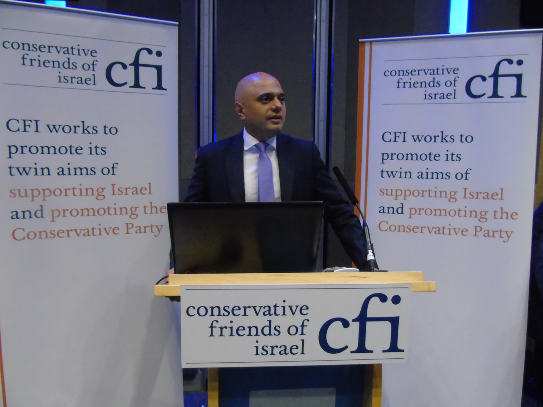 Home Secretary Sajid Javid addresses 500 at CFI Party Conference event