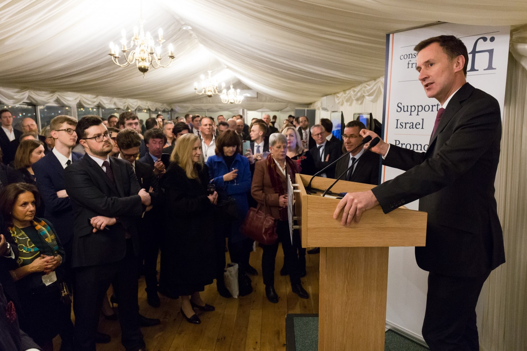 "Foreign Secretary Jeremy Hunt affirms Israel's ""unconditional right to self-defence"" at CFI Parliamentary Reception"