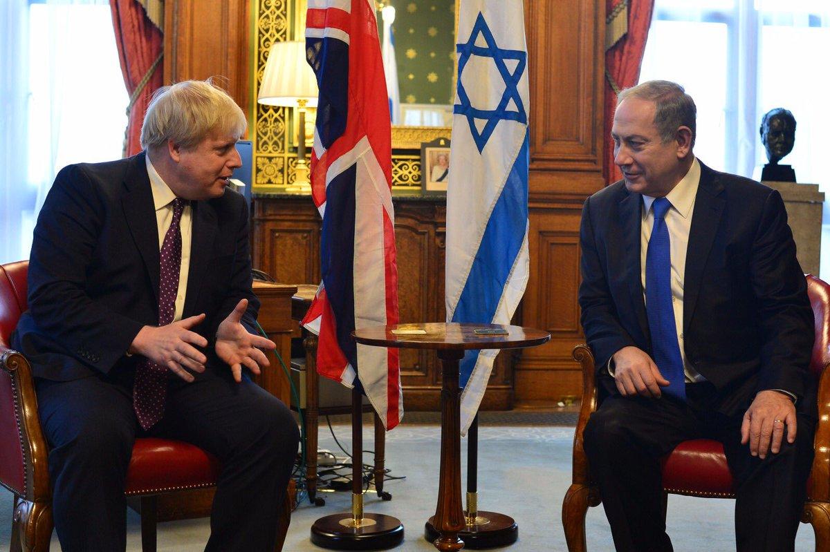 Boris Johnson Netanyahu 1
