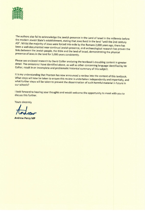 Andrew Percy letter 2