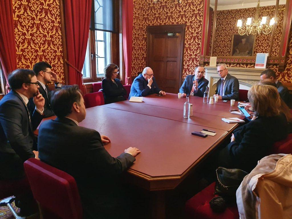 Israel's Energy Minister Yuval Steinitz visits London