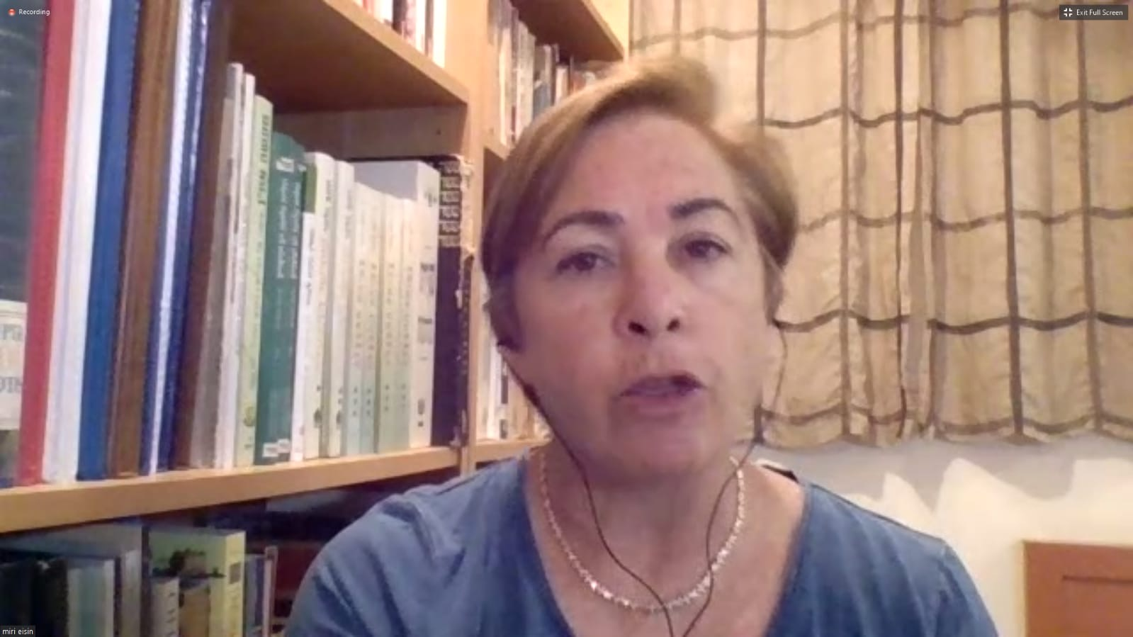 CFI hosts webinar with former Israeli Government Spokesperson Col. (Ret.) Miri Eisin