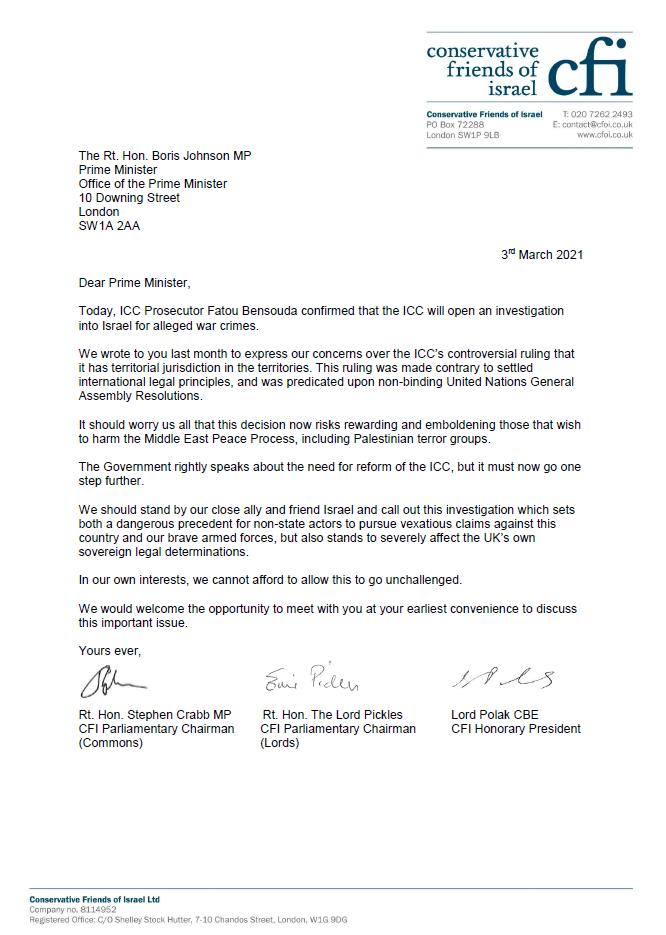 ICC letter - CFI