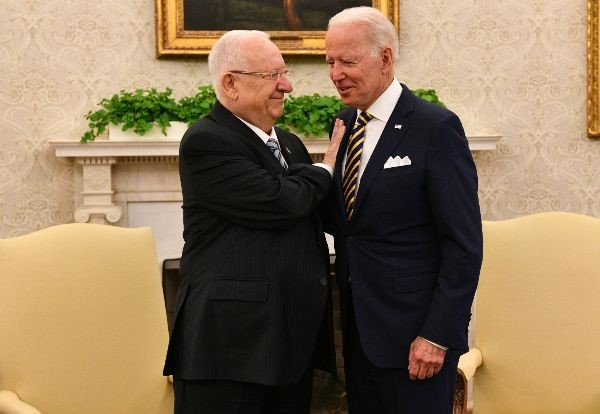 US President Biden hosts Israel's President Rivlin in Washington